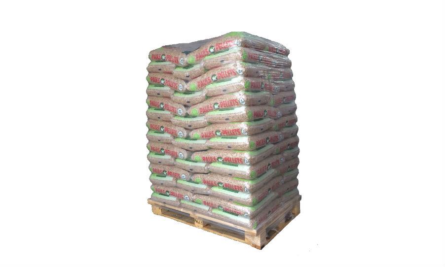 Palette de granulés de bois Pauls Pellets 70 sacs de 15kg Po u00eales et Foyers Passion # Palette De Granulés De Bois